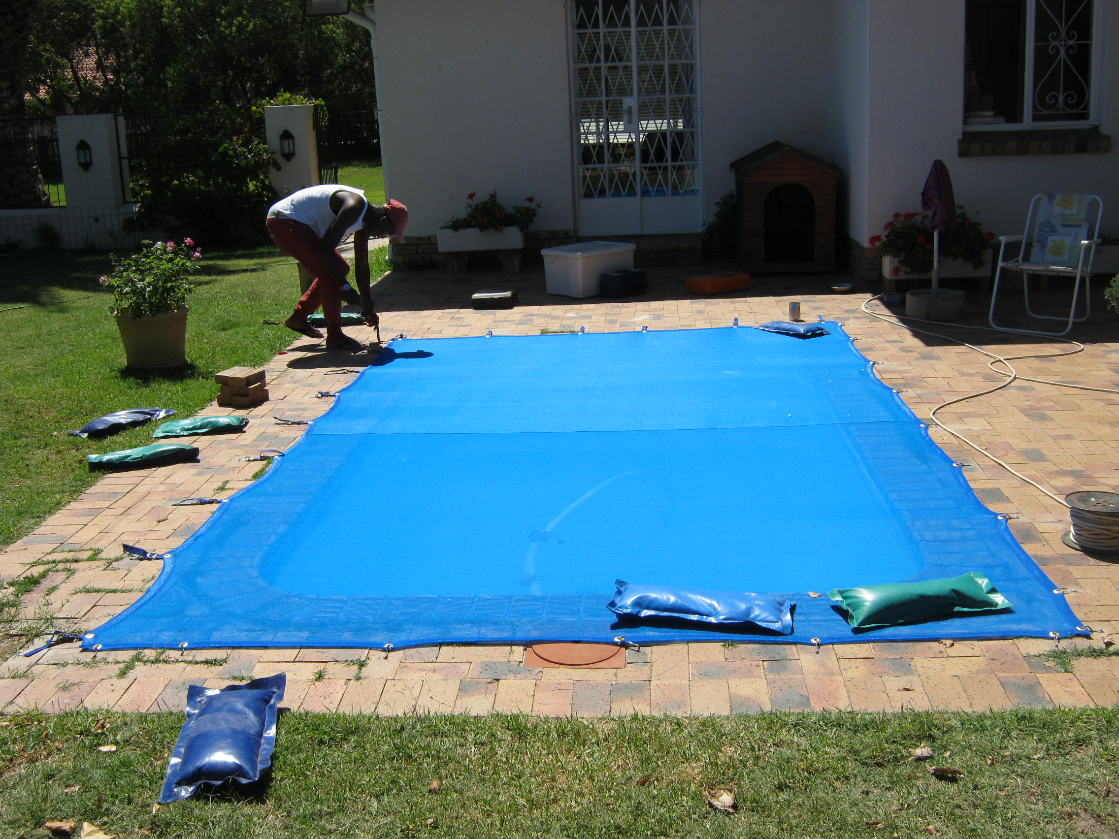 Pool covers in cape town for How to make a pool net
